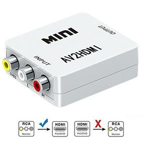 S-ciing Rca Composite Cvbs Av To Hdmi Video Audio Converter