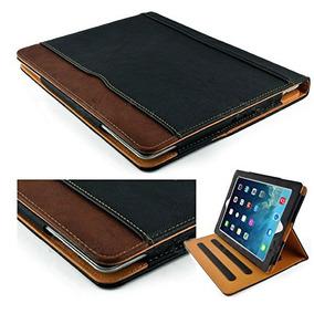 Nueva S-tech Negro Y Tan Apple Ipad 2 3 4 Generación Suave