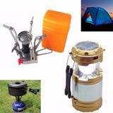 Pack Cocinilla Camping + Linterna Lampara Solar 53683/ Ferna