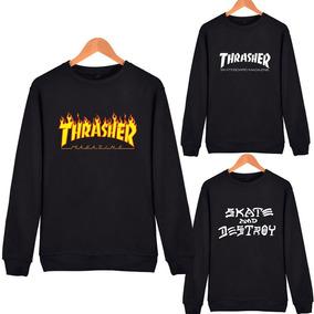Thrasher - Buzo Unisex Cuello Redondo - Skate - Hip Hop Kpop