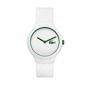 Reloj Lacoste Original Unisex Blanco Con Detalle Verde 0103