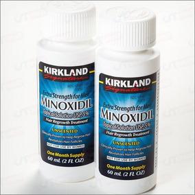 Kit Minoidil 02 Frascos Kirkland 5% Original + Aplicador