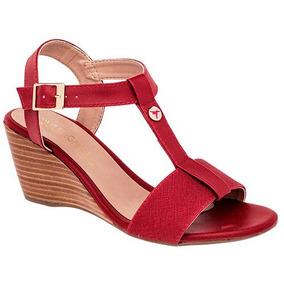 Sandalias Paulie Para Dama Rojo 76357 Originales
