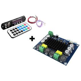 Amplificador 240wrms Diy+decodificador Bluetooth Caixa Ativa