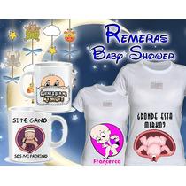 Remeras Embarazadas + 2 Tazas - Futura Mama - Baby Shower