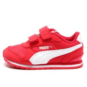 Tênis Puma St Runner V2 Nl Pink Branco Feminino Infantil 3aee88c17a125