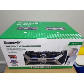 Caixa De Som Ecopower 2221 Portatil