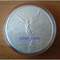 Moneda 1 Kilo Plata Libertad 2016 Satin Nueva Banxico