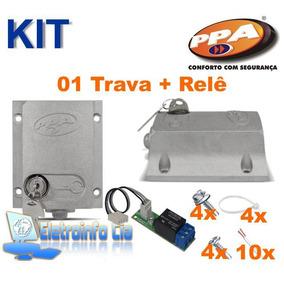Kit 01 Trava Eletromagnética C/ Temp. + Relê Dog Ppa