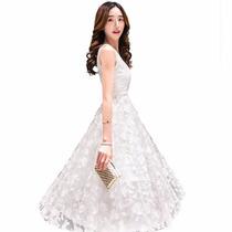 Vestido Casamento Noiva Civil Sem Mangas Renda