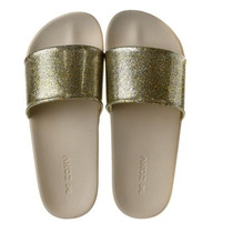 Chinelo Zaxy Snap Gaspea Slide Dourado Gliter 17333 Snob 2