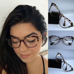 Armação Pin Up Gatinho Cat Eye - Óculos Retrô + Case+flanela f0bc86a7be
