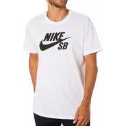 Nike Remera Skateboarding Sb Logo - White Ar4209 100  (4210)