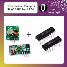 Kit Transmissor Receptor Rf 433 Ht12e Ht12d Encoder