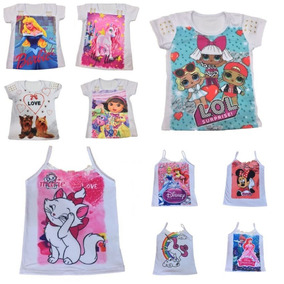 Kit 10 Camiseta Blusa Manga Curta Infantil Atacado Revenda