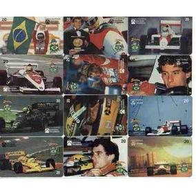 Cartoes Telefonicos Ayrton Senna Colecao Completa 12 Cartoes