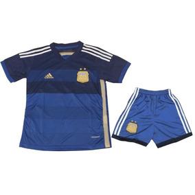 Conjunto Futbol Niños Camiseta Y Short Argentina Afa T 10
