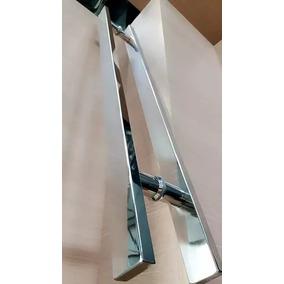 Puxador Inox Chato 100cm Porta De Madeira E Vidro Polido