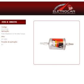 Filtro De Combustível Fiat Palio Weekend 1.6 16v Stile Torqu