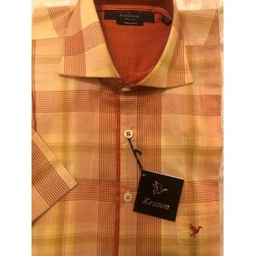 Camisa Hombre Kenton Talle 37/38 Manga Corta Pure Cotton