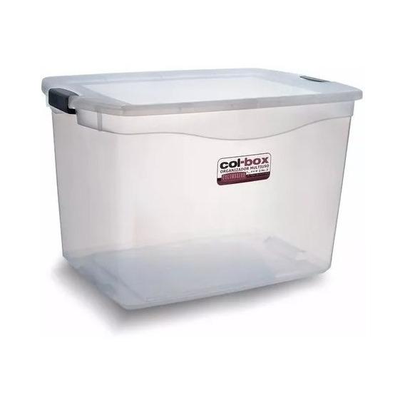 Caja Organizador Plastico Apilable Con Tapa Taper 80 Litros