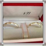 Oferta Anillos De Boda Matrimonio Plata Con Oro Garantizados
