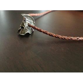 Collar De Piel Hombre Casco Espartano.casco Gladiador.cafe