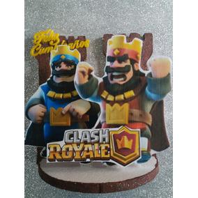 Adornos De Torta Clash Royale Cotillón Decoración Funbren