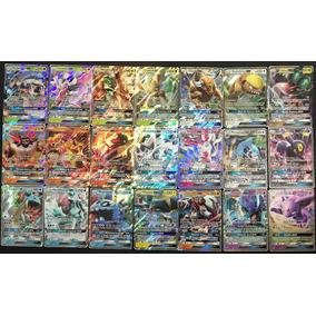 Lote 100 Cartas Pokémon Com 2 Cartas Gx Sem Repetição