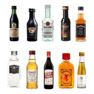 Combo Miniatura Oferta X3 Whisky Gin Licor Vodka A Eleccion