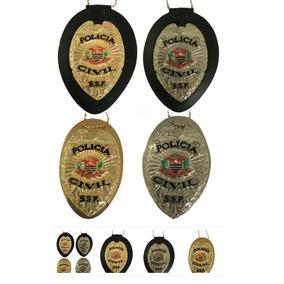 Distintivo Policia Civil De São Paulo Aguia - Frete Gratis