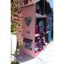 Casas De Muñecas Monster High C/escaleras, Puerta Y Muebles,