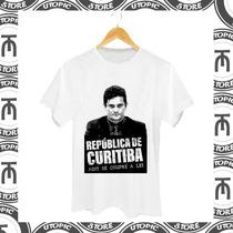 Camiseta Sergio Moro - Lava Jato - Corrupção - Moro - Ctb