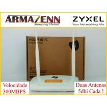 Modem Roteador Adsl2 Wifi 300mbps Duas Antenas Antenas Zyxel