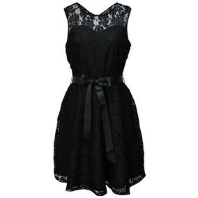 Vestido De Encaje,casual O De Fiesta , Negro