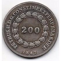 Moeda 200 Reis 1847 Ref 534 Replica Rara