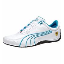 Tenis Puma Drift Cat 4 Scuderia Ferrari Low Blanco Azul Rock