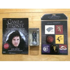 Set Figura Jon Snow E Imánes Casas Y Escudos Game Of Thrones
