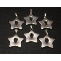 Dije Estrella Plata 925- 2,7x3,5cm Collar O Pulsera Besilver