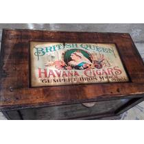 Baul Arcon Caja Cofre Madera Vintage Retro Antiguo Patina