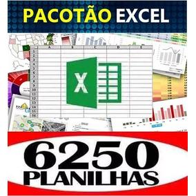 6250 Planilhas Excel 100% Editáveis