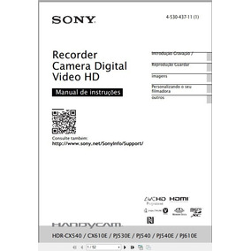 Manual Sony Hdr-cx 540 Em Português