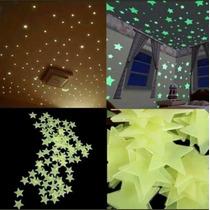 Lote Mayoreo Estrellas Fluorescentes, Stickers Para Decorar