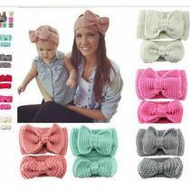 Diademas Tejidas A Crochet Mama E Hija Envio Gratis
