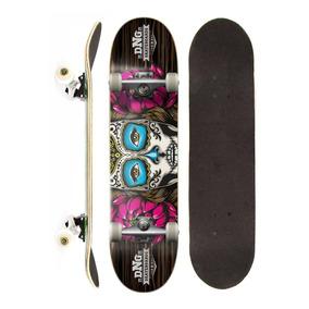 Skate Montado Completo Dng Profissional Lady Skull Street