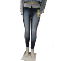 Calça/shorts Jeans Feminino C/moletom Nas Laterais Kit C/2