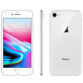 Iphone 8 Apple 64gb Prata Tela Retina Hd 4,7 Ios 11 4g E C