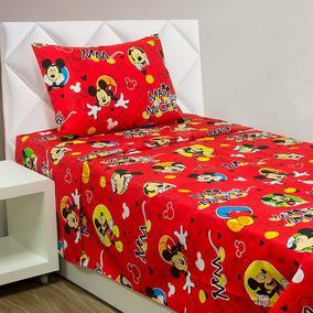 Colcha Boutis Disney - Solteiro - Mickey