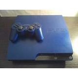 Ps3 Slim 160 Gb Usado (azul) 1 Control