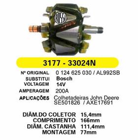 Rotor Alternador Bosch Colheitadeira John Deere 200amp 14v